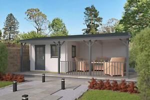40 Mm Gartenhaus Terrasse 720x420cm Blockhaus Holzhaus