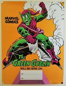 Rare 1977 Marvel Comics Spider-Man Green Goblin John Romita Poster Marvelmania!