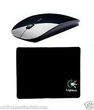 100% Black Original Slim Wireless Mouse 2.4 GHz with 1 Pcs Logitech Mouse Pad