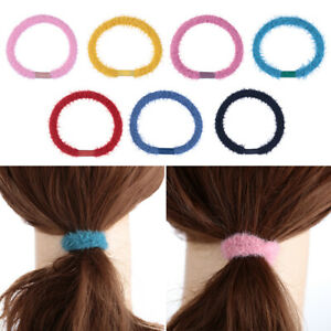 Soft-Colorful-Plush-Scrunchies-Rubber-Hair-Accessorier-Ponytail-Holder-Headband