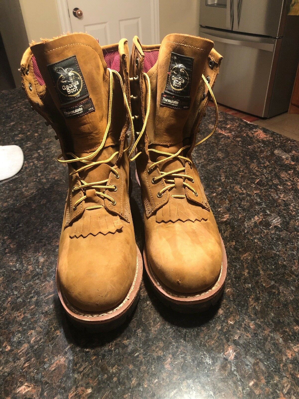 GEORGIA GTX® WTRPF 400G INSULATED STEEL TOE LOGGER WORK BOOTS G9382 Men Size 11