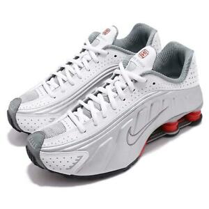 cd6c4b0b4eeb Nike Shox R4 White Metallic Silver Comet Red Mens Retro Running ...