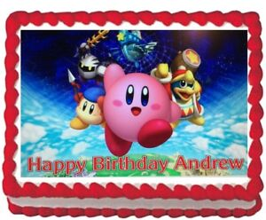 kirby edible cake image topper birthday icing decoration 1 4 sheet