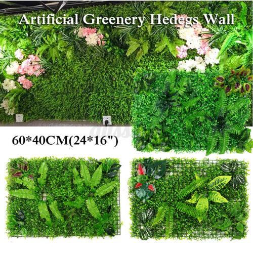 Artificial Plant Wall Panel Grass Hedge Fake Vertical Foliage Garden Mat