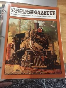 Narrow-Gauge-and-Short-line-Gazette-set-of-6-from-1994-great-cond-in-binder