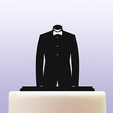 Acrylic Tuxedo & Bowtie Suit Fashion Industry Birthday Cake Topper Decoration