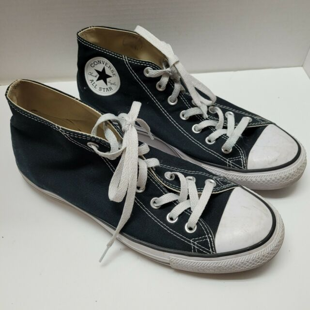 Size 10 - Converse Chuck Taylor All Star Clean Mid Black for sale ...