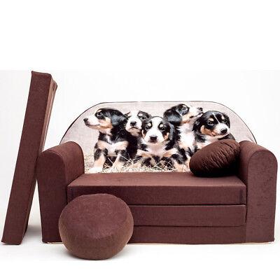 Spielsofa 6H Kindercouch 3in1 Doppelsofa Minisofa Kinder Sofa Couch gemütlich