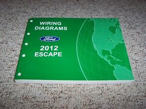 2012 ford escape electrical wiring diagram manual xls xlt. Black Bedroom Furniture Sets. Home Design Ideas