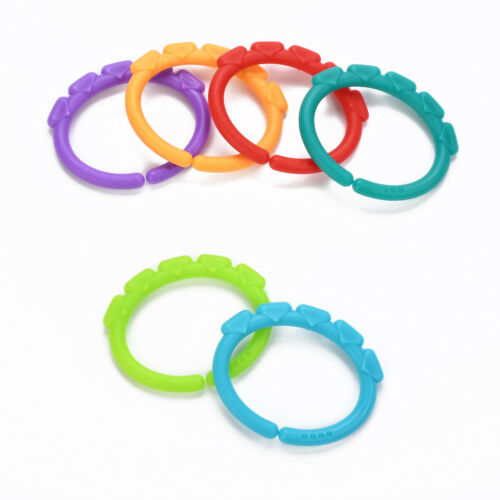 24pcs Colorful Plastic Teething Ring Baby Sensory Teether Play Toys Pain Relief