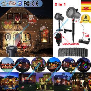 led laser projektor gartenlicht beleuchtung au en landschaft weihnachten deko ebay. Black Bedroom Furniture Sets. Home Design Ideas
