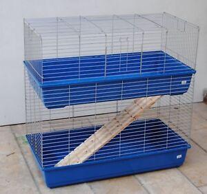 Cage pour cobaye Cage à lapin Cage Double Cage 1 M. Bleu