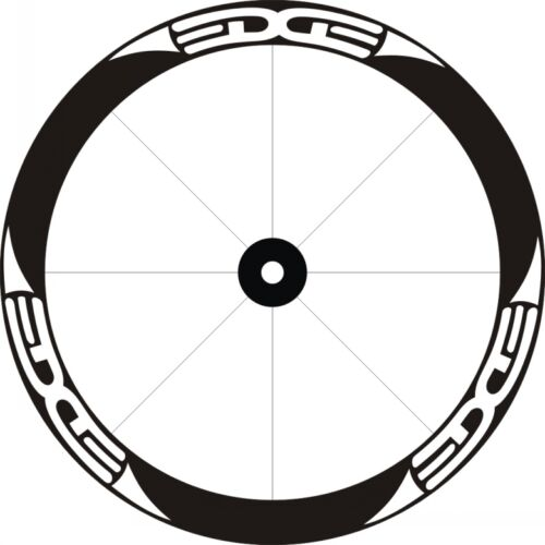 EDGE Deep Rim Wheel Stickers Decals Replacement Set of 12 For 700C 2 RIMS WHITE