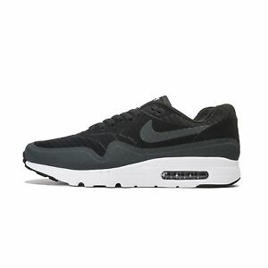 new style 507c8 8b401 Image is loading Nike-AIR-MAX-1-ULTRA-ESSENTIAL-BLACK-Men-