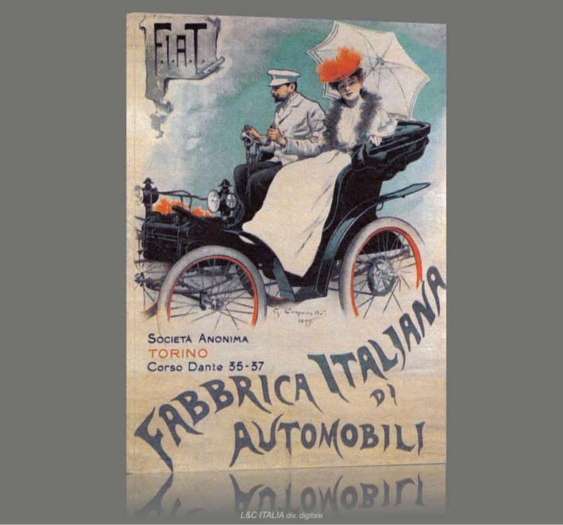 Fiat 1899 QUADRO STAMPA TELA MANIFESTO MANIFESTO MANIFESTO EPOCA AUTOMOBILE ARrossoO CASA UFFICIO d7b674