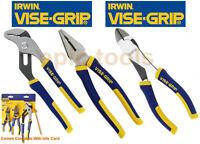 "IRWIN Vise-Grip 10"" Waterpump,7"" Combination, 6"" Diagonal Side Cutter Pliers Set"