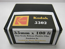 Kodak 5302 35mm x 100' Fine Grain Black & White Release Positive Neg Film Roll