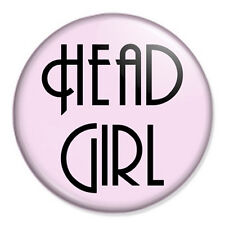 """St Trinians Logo Schoolgirl School Girl FANCY DRESS School Disco 25mm 1/"""" Badge"""