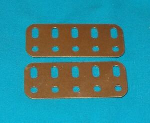 No46 doré MECCANO 1 bande coudée 5x2 trous