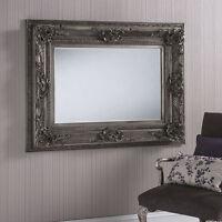 Dallas X Large Ornate Silver Rectangle Wall Mirror 132cm X 101.5cm 52 X 40