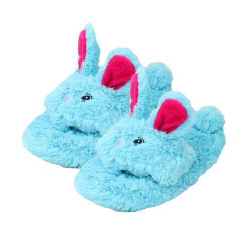Girls Bunny Rabbit Slippers Sandal Novelty Animal Slider Open Toe Fluffy Gift
