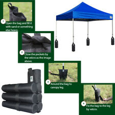 4PC-Pop Up Canopy Outdoor Gazebo Tent Accessory Deluxe Sand Leg Weight Bags  sc 1 st  eBay & Eurmax Canopy Accessory 4pcs Rock/sand/dirt Leg Weight Bags for ...