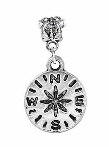 Compass-Camping-Hiking-Travel-Vacation-Dangle-Charm-for-European-Slide-Bracelets