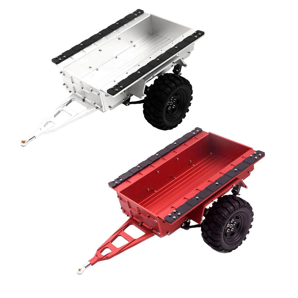 For Axial SCX10 90046 Traxxas  TRX4 D90 Aluminum RC Hitch Mount Trailer  offrendo il 100%
