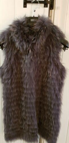 40 e Georgio Gillet Mario BNWT 10 12 Fur taglia Grey vnqRw1