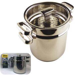 Coffret-ZANUSSI-Premium-inoxydable-Pasta-Pot-cuiseur-vapeur-induction-du-20-cm-Vie-Garantie