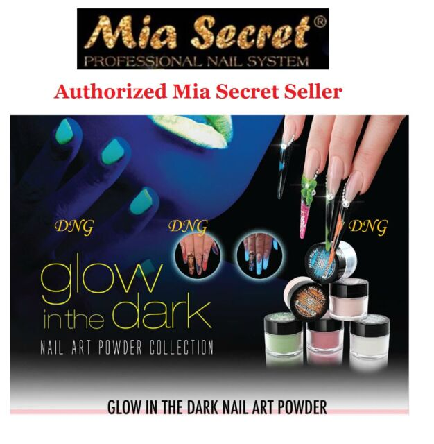 Mia Secret Acrylic Powder Glow In The Dark Collection 3d Nail Art 6