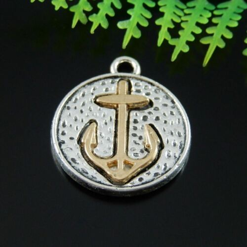 Lots 20pcs Antique Alloy Gold Anchor Charms Pendant Jewelry DIY Making 51485