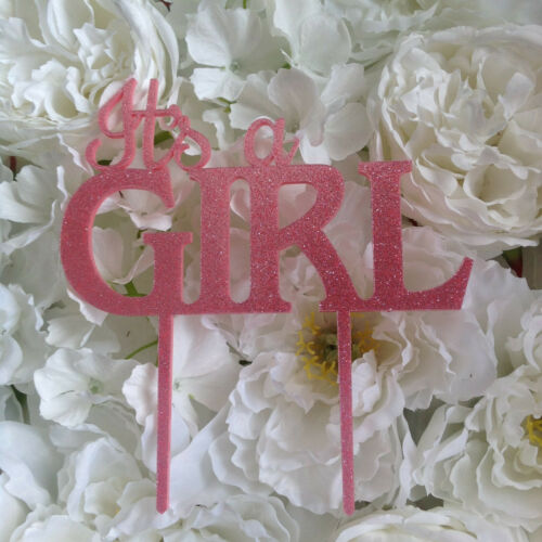 its a Girl cake topper your choice Colour Cake Decoration ACRYLIC baby shower