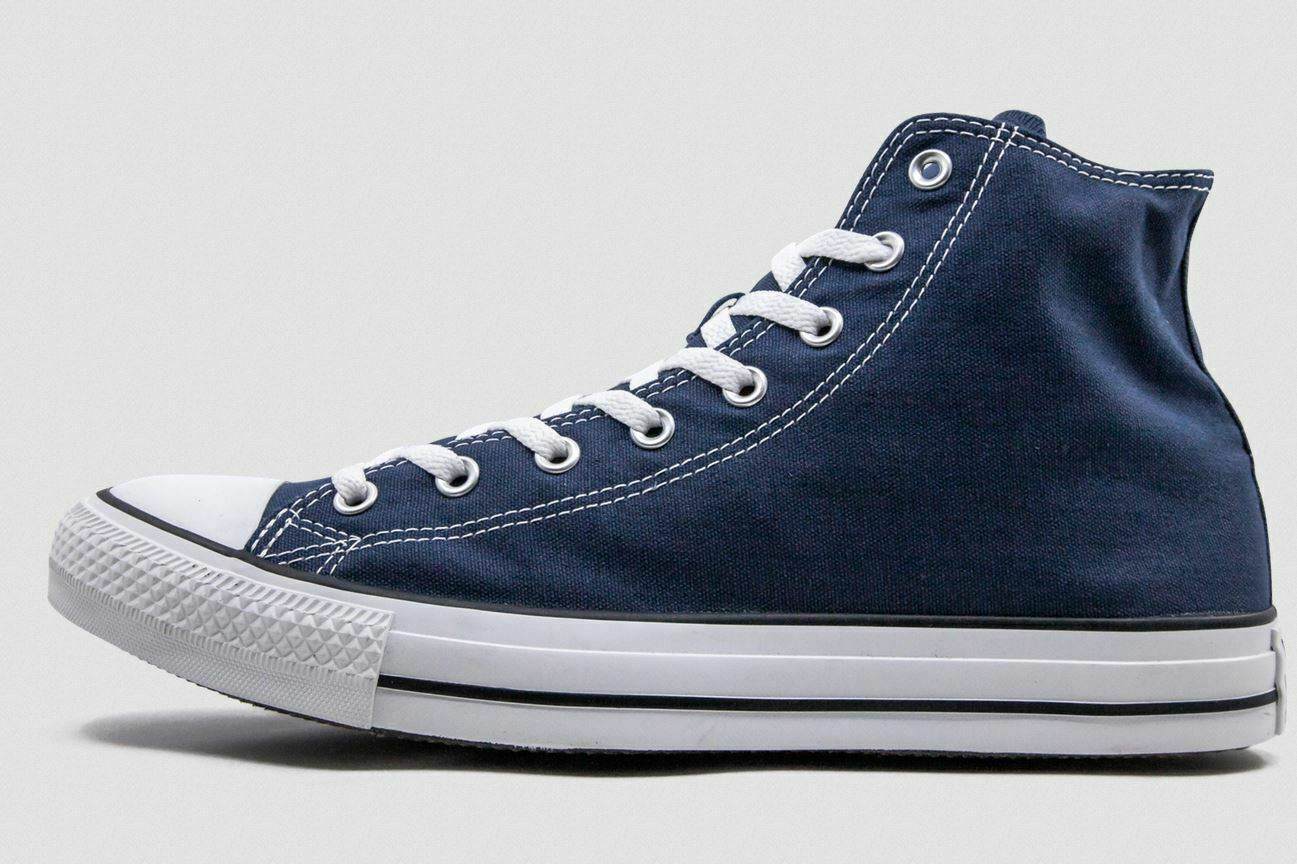 Converse Unisex Cons Chuck Taylor All Star Hi Navy White Casual Lace Up Trainers