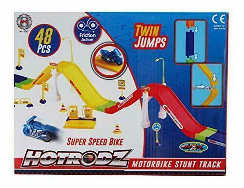48Pcs hotrodz Moto Stunt Track Jouet Jeu Set Parfait Cadeau de Noël pour enfants