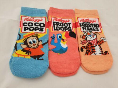 Kellogg/'s Retro Primark Women/'s Ladies 3 x Pairs Trainer Socks Shoe Liners