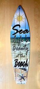 """/""""MARGARITA/""""  Metal Surfboard Sign 17/""""  Beach-Pool-Bar-Patio-Wall  U40"""