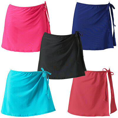 UK Seller Scuba Womens Mix /& Match Plain Swimming Beach Full Wrap Skirt Cover Up