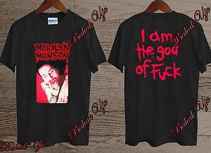 b9b5b0647ebd New Tour Merch Marilyn Manson I am the god of fck rock t-shirt Size ...