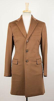 New. BELVEST Camel Brown Cashmere Blend Coat Size 54/44 R Drop 8 $2795