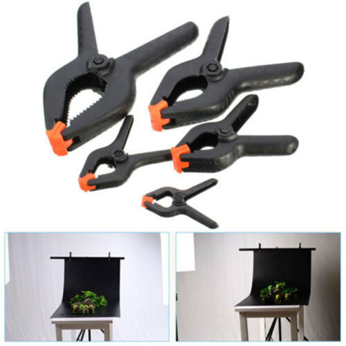 """Plastic Spring Clamps Tips Tool Clip 2/"""" Jaw Opening 2//3//4//6//9 Inch US"""