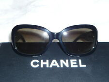 a0898e7b59be Authentic CHANEL Sunglasses CC Logo Black Frame Gray Lens With Case ...