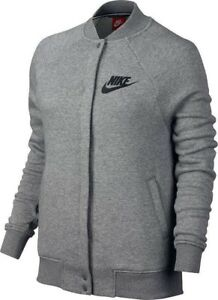 Zu Nike Xs Training Gym Details Size Women's New Varsity Casual Grey Black Jacket QdCshBtrxo