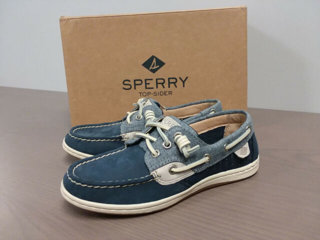 SPERRY Songfish, Chambray/Suede/Navy