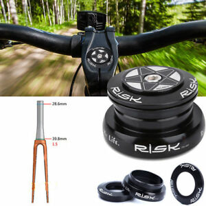 Bicycle Tapered Steerer Tube Front Fork Extension Head Tube Aluminum 32//39.8mm