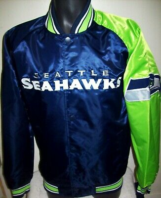 size 40 bc256 69964 SEATTLE SEAHAWKS NFL STARTER Snap Down Jacket BLUE/GREEN 3X 4X 5X 6X | eBay