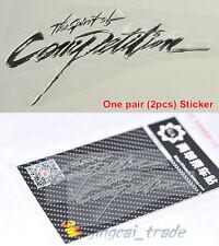 Pair (2 pcs) Polished Chrome Silver The Spirit of Competition Car Emblem Sticker