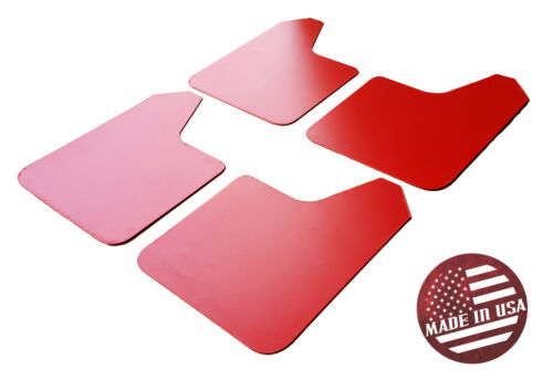 STARTER Mud Flaps Set RED with Custom Vinyl Logo A SR