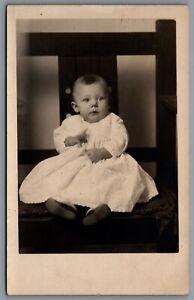 Postcard-RPPC-IA-c1910s-Studio-Photo-of-Baby-Florence-Norma-Mount