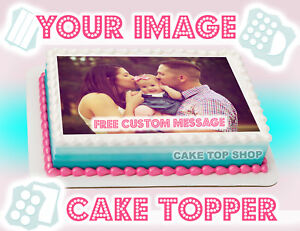 photo regarding Printable Edible Cake Toppers named Information and facts over EDIBLE CAKE Picture Cake Topper Picture Symbol Custom made BIRTHDAY Design and style Frosting Sheet